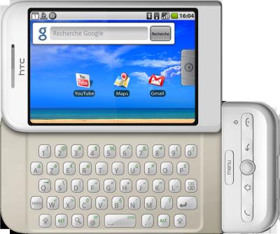 Le clavier virtuel du HTC Dream