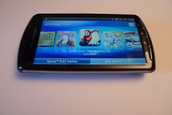 xperia play jeux Test Xperia Play