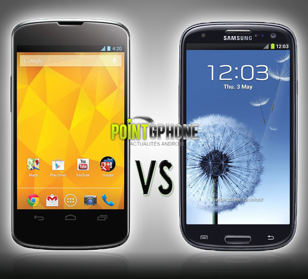 Galaxy S3 vs Nexus 4 2