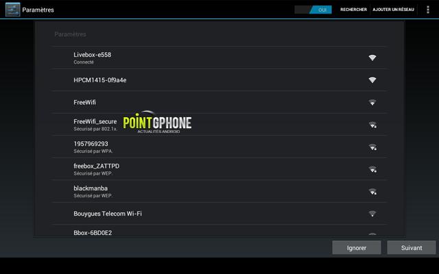 Screenshot 4 - Ecran démarrage usine - Configuration connexion Wifi