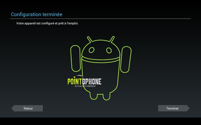 Screenshot 4 - Finalisation restauration d'usine tablette Android