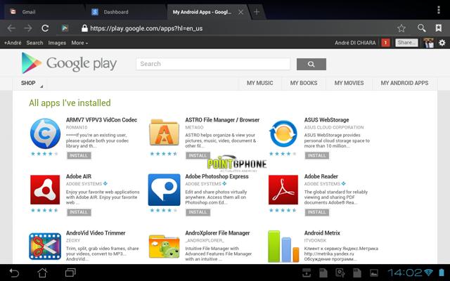 Screenshot 5 - Ecran Compte Google Play après restauration d'usine