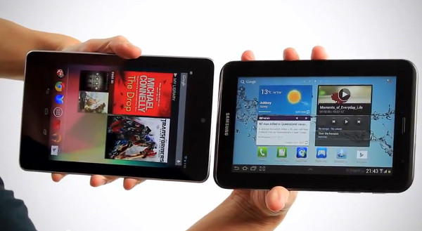 nexus7 vs galaxy tab 2