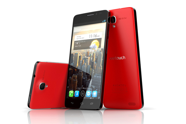 Alcatel ONE TOUCH IDOL X rouge