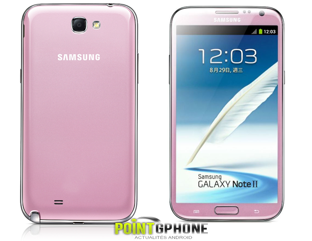 galaxy note 2 rose