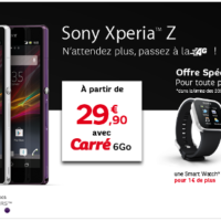 Le Sony Xperia Z est disponible en pr-commande chez SFR  partir de 29.90