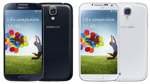 Galaxy S4 vue de face et de dos