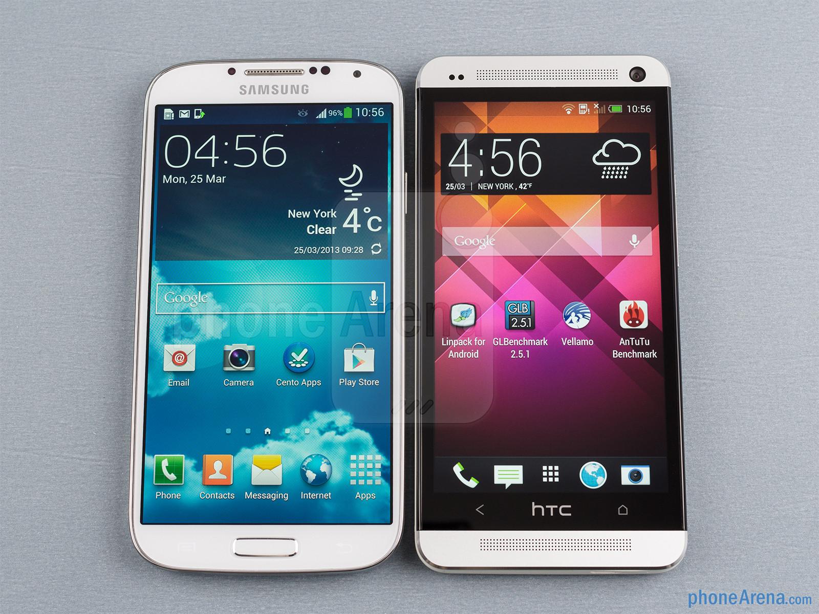 Samsung galaxy s4 vs htc one comparaison entre 2 des meilleurs