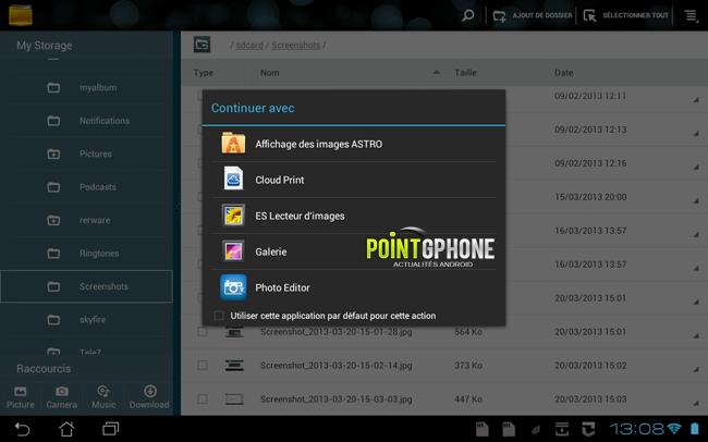 imprimer avec un équipement Android 3