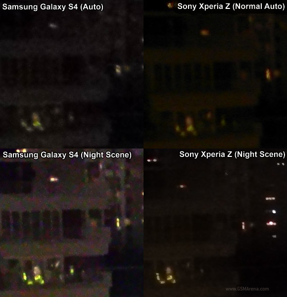test Sony Xperia Z VS Samsung Galaxy S4 appareil photo mode nuit 2
