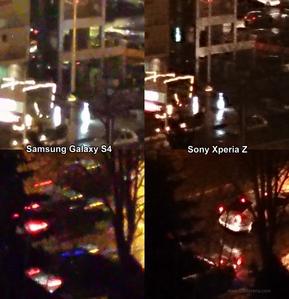 test Sony Xperia Z VS Samsung Galaxy S4 appareil photo mode nuit