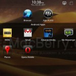 Des applications Android sur BlackBerry PlayBook en vidéo