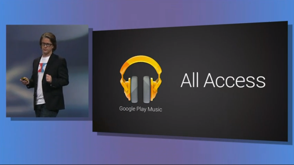 Annonce du service de musique en streaming, Google Play Music All Acsess, a la Conference Googl...