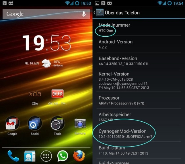 La version 10.1 « nightly build » de CyanogenMod est désormais disponible pour le HTC One