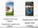 htc one vs galaxy s4 performance