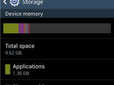 espace de stockage galaxy s4