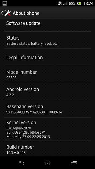 Android 4.2.2 xperia z 2