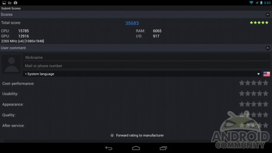 Test Benchmark Snapdragon S800 19061