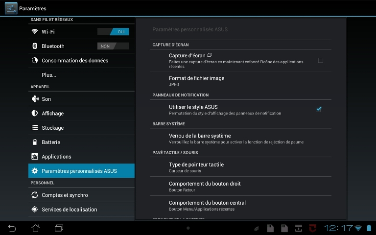 verouillage barre système sous Android 28081
