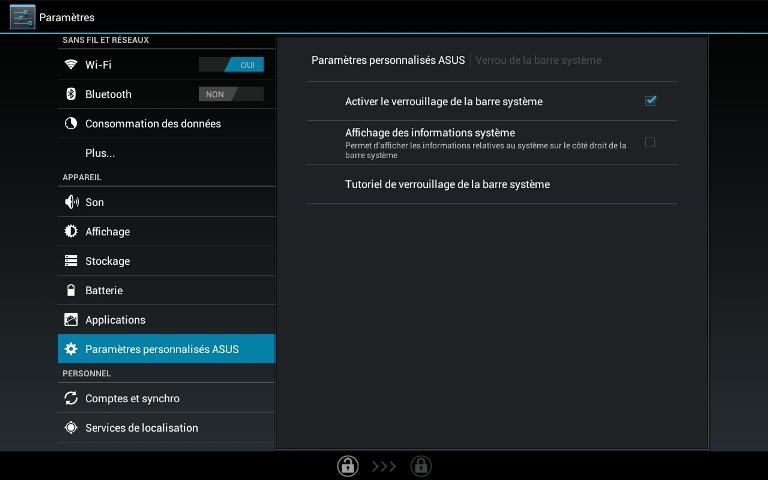 verouillage barre système sous Android 28083
