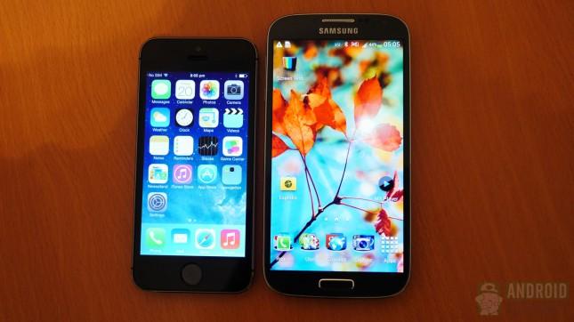 iphone 5s vs galaxy S4 250904