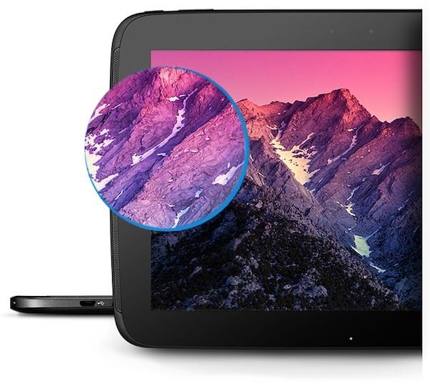l'écran de la nexus 10 est meilleur que l'ecran retina