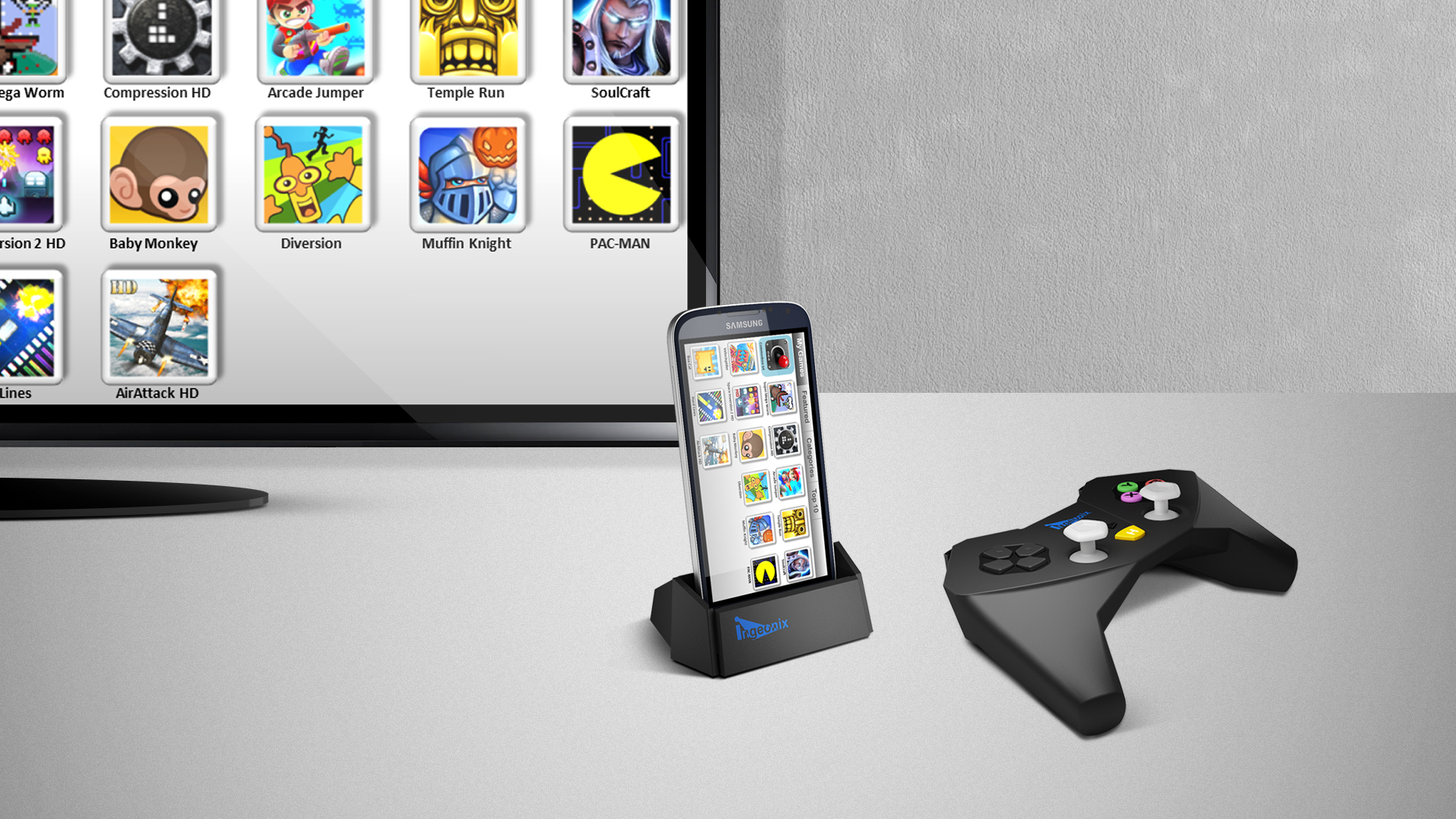 Ingeo transformera votre smartphone en une console de jeux - Console de salon android ...