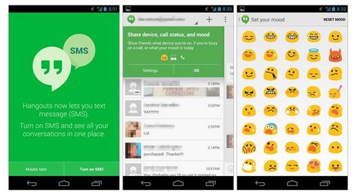 Hangouts 2 0 avec la fonction sms int gr e est disponible - Ne plus recevoir de coup de telephone publicitaire ...