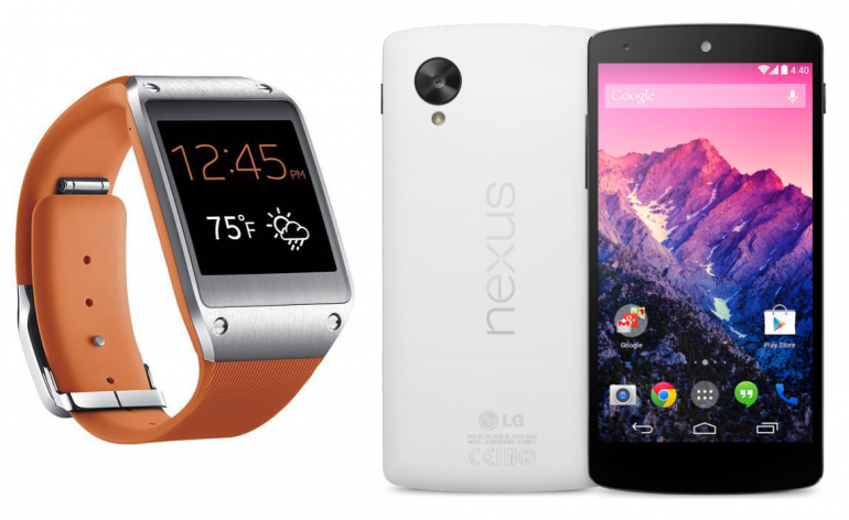 galaxy gear avec le nexus 5