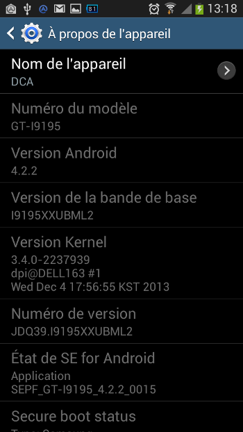 test 4G galaxy S4 mini 1321