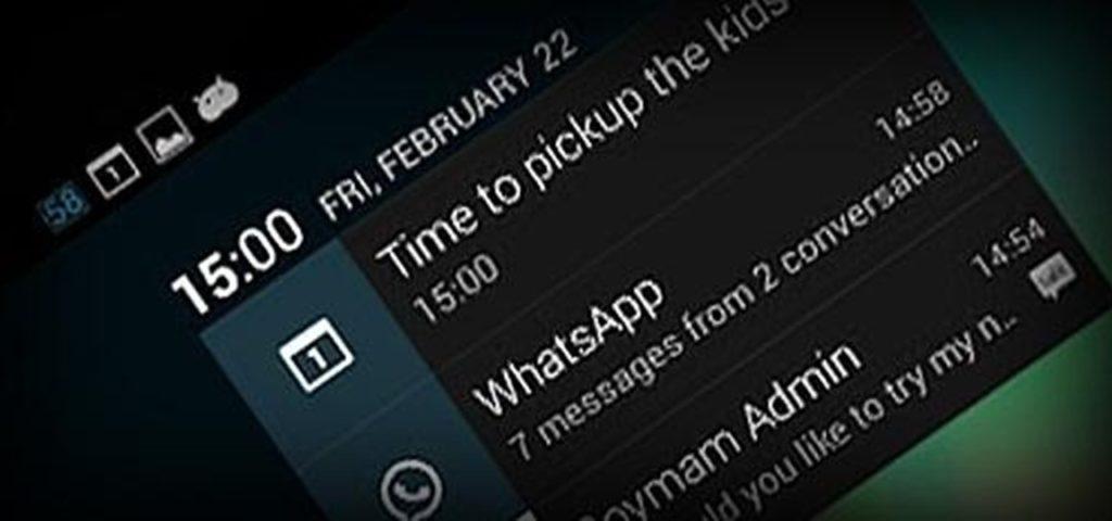 panneau de notifications sur votre smartphone Android