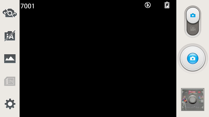 LG Optimus G pro interface caméra 1