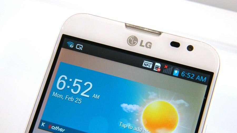 LG optimus G pro camera frontale