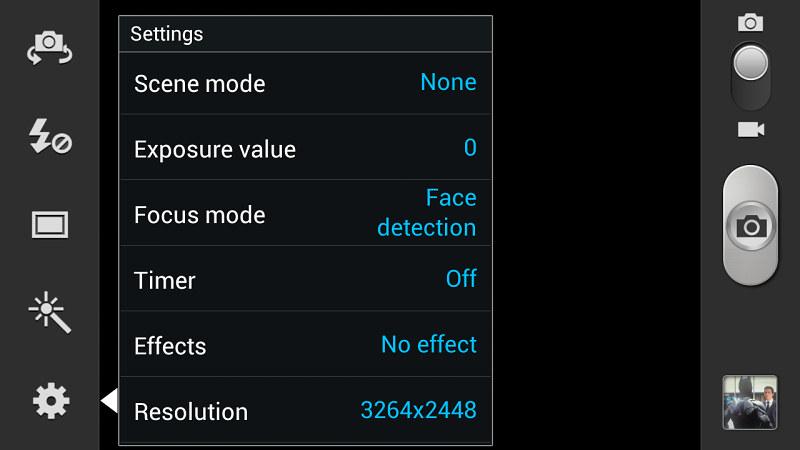 Samsung Galaxy Note 2 interface caméra 2