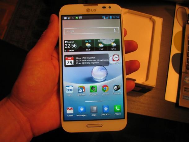 test LG optimus G Pro ecran