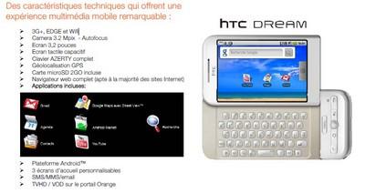 Communiqué de presse HTC Dream