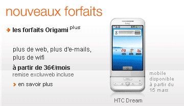 HTC Dream chez Orange à partir du 15 mars