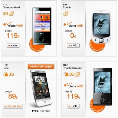 Tarif pré-commande HTC Hero sur Orange Espagne