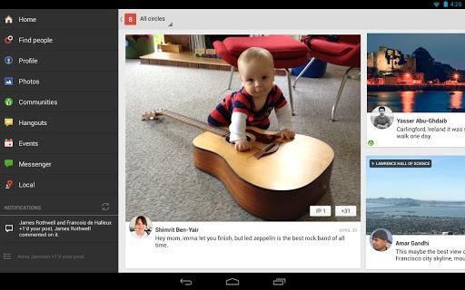 mise à jour Google+