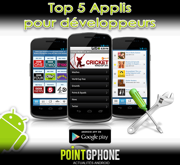 app developper top 5