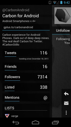 carbon for twitter