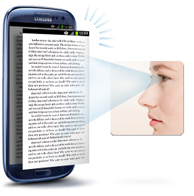 samsung eye scroll