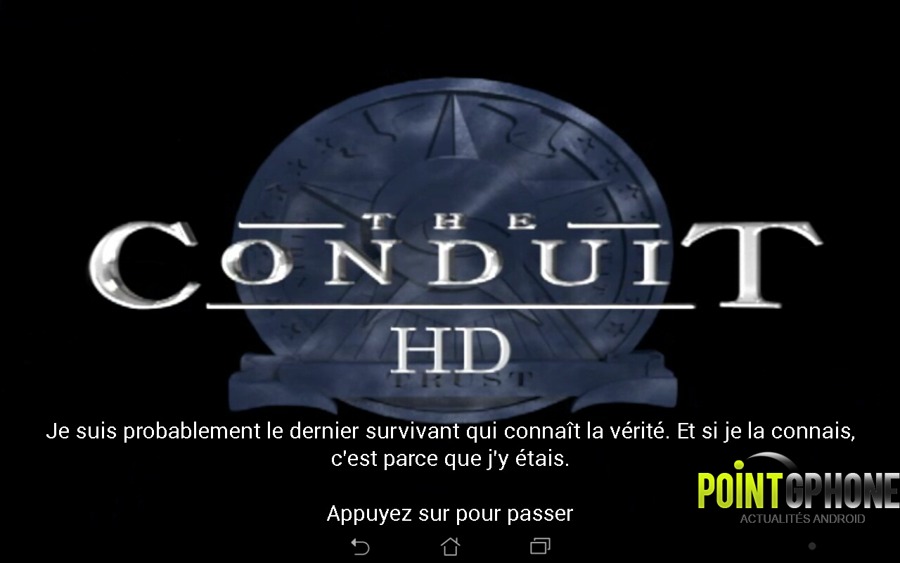 test jeu android the conduit HD 1
