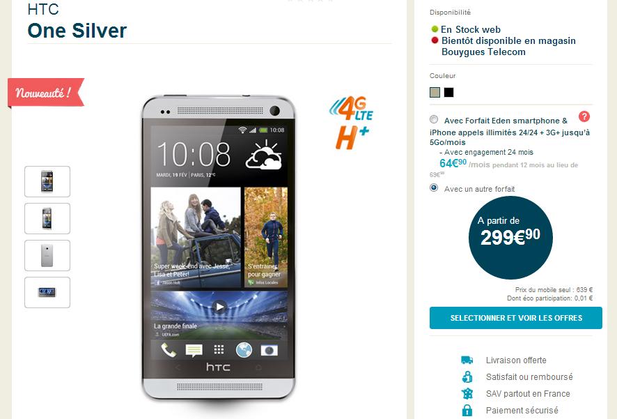 HTC One disponible en boutique 1