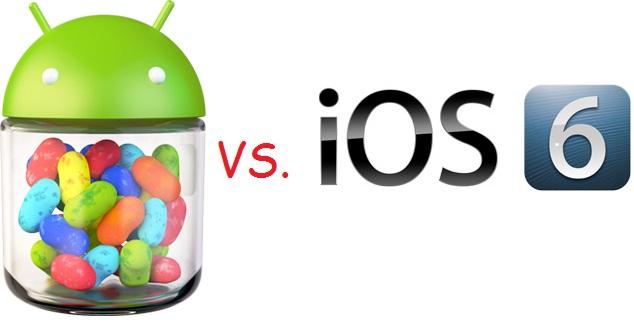 Android Jelly Bean VS iOS 6