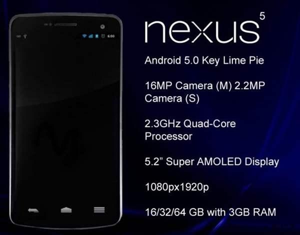 Nexus 5 rumeurs