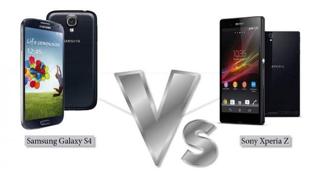 Samsung Galaxy S4 VS Sony Xperia Z