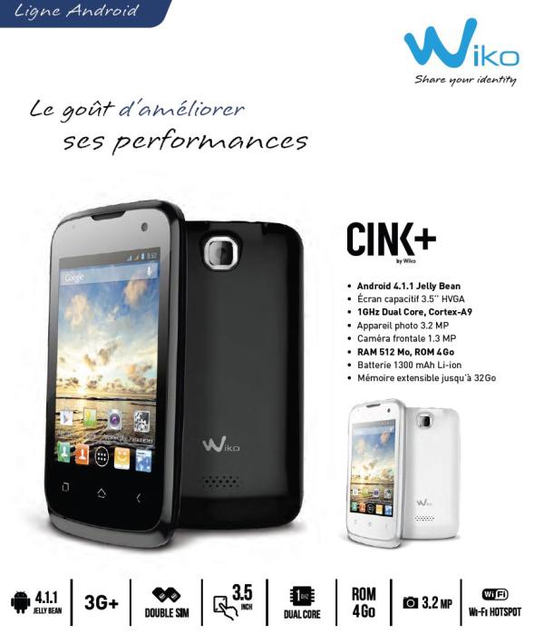 wiko cink + 1