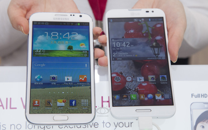LG Optimus G Pro vs Galaxy Note 2 3