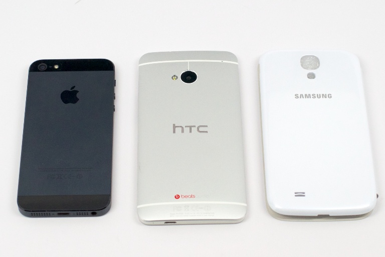 htc one vs iphone 5 vs galaxy s3